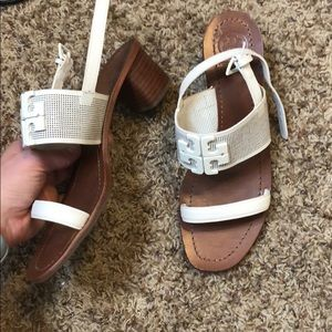 TORY BURCH size 8 small heel sandals